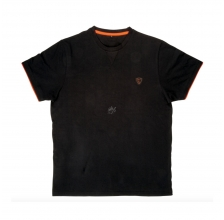 Fox - Black/Orange Brushed Cotton T-Shirt