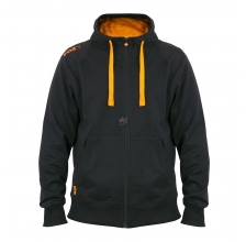 Fox - Black & Orange Lightweight Zipped Hoody