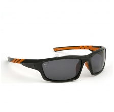 Fox - Black Orange Sunglasses Grey Lens