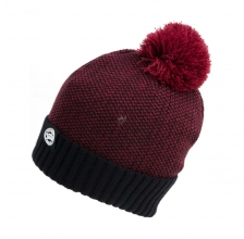 Fox - Bobble Hat - Burgundy/Black