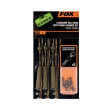 Fox - Edges Dark Camo Leadcore Heli Rigs - Kwik Change Kit