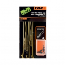Fox - Edges Trans Khaki Tubing Leadclip Rigs - Kwik Change Kit