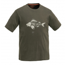 Pinewood - Fish T-Shirt - Khakigrün