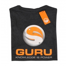 Guru - Brush Logo Tee Heather Charcoal