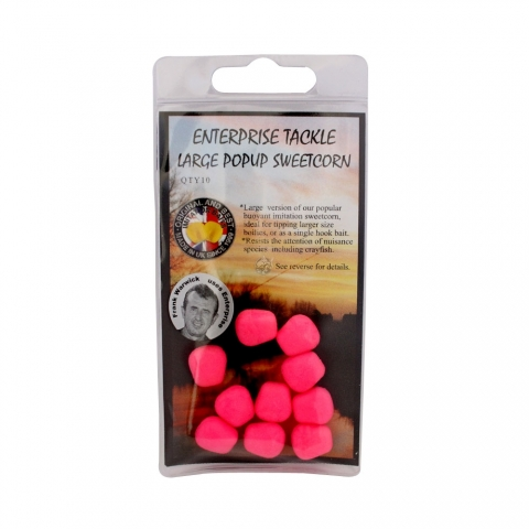 Enterprise Tackle - Large Pop Up Sweetcorn - Unflavoured - Fluoro Pink
