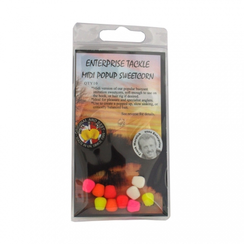 Enterprise Tackle - Midi Pop Up Sweetcorn - Mixed Fluoro