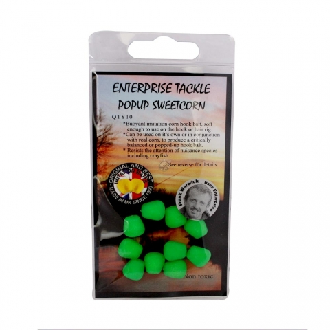 Enterprise Tackle - Pop Up Sweetcorn - Unflavoured - Fluoro Green