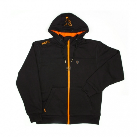 Fox - Black/Orange Heavy Lined Hoody - Size 2XL