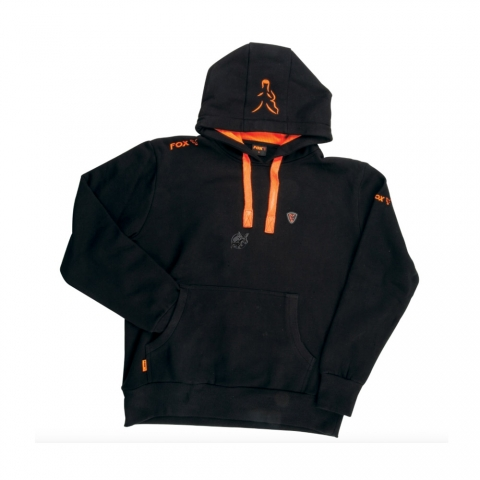Fox - Black & Orange Hoody # 2XL