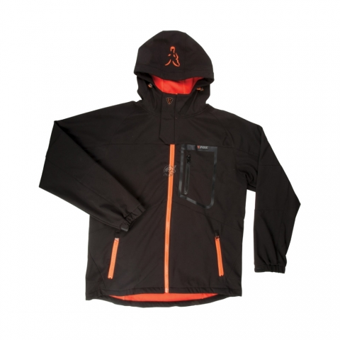 Fox - Black/Orange Softshell Jacket - Size 3XL