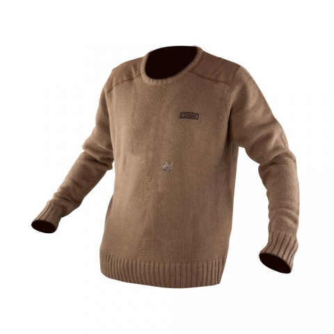 Fox - Chunk Heavy Knit Jumper Khaki - 2XL