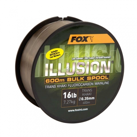 Fox - Illusion Mainline 600m Bulk Spool 19lb - Trans Kahiki