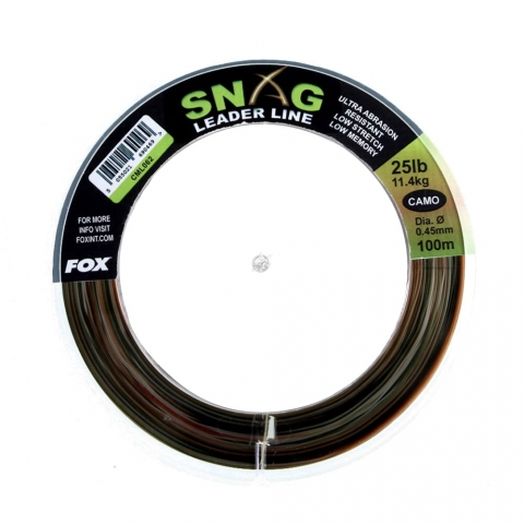 Fox - Snag Leader Line 100m - Camo 35lb