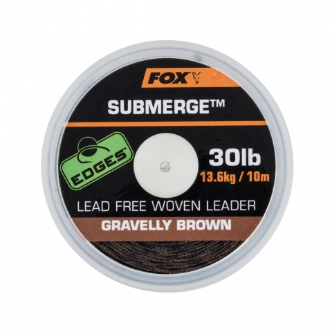 Fox - Submerge lead free leader brown - 30lb - 10m