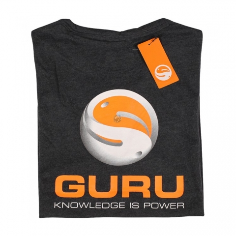 Guru - Brush Logo Tee Heather Charcoal - Size 2XL