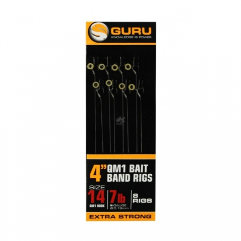 Guru - QM1 Ready Rigs Bait Bands - 0,17mm - Size 16