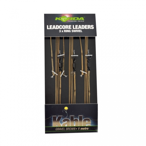 Korda - Leadcore Leader Ring Swivel Weed/Silt