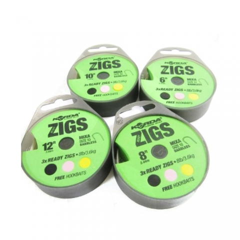 Korda - Ready Zigs Barbed - 8ft