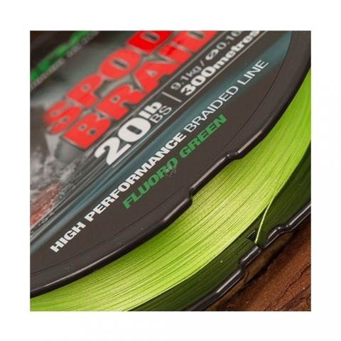 Korda - Spod Braid 20lb 0,16mm 300m  Fluoro Green