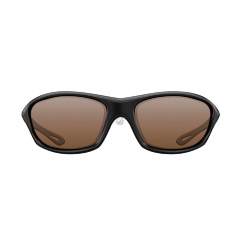 Korda - Wraps Gloss Sunglasses - Black / Brown Lens