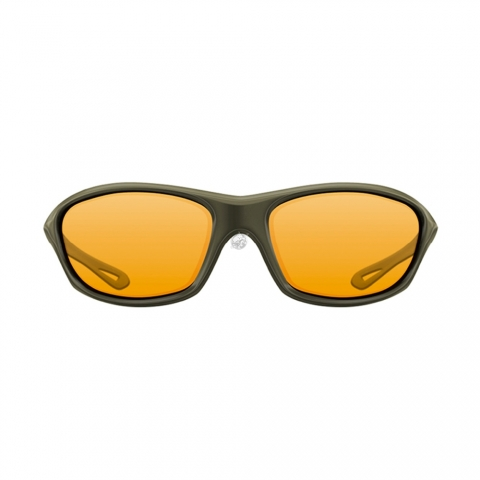 Korda - Wraps Gloss Sunglasses - Olive / Yellow Lens
