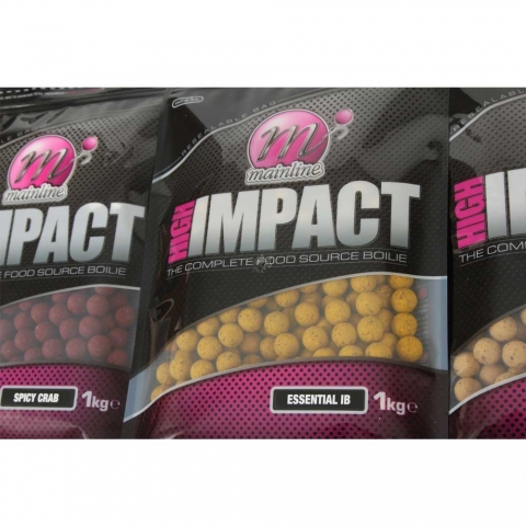 Mainline - High Impact Boilies Spicy Crab 1kg