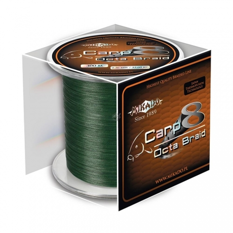 Mikado - Carp 8 Octa Braid Green 1200m -  0,26mm