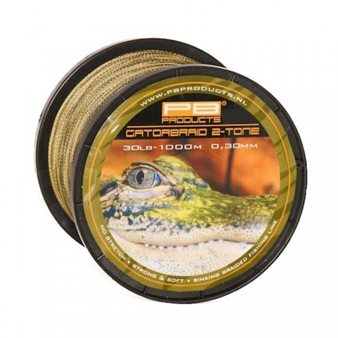 PB Products - Gator Braid 2-tone - 0,26mm - 25lb - 1000m