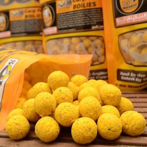 Solar Tackle - Shelf-Life Boilies 1kg - Top Banana - 14mm