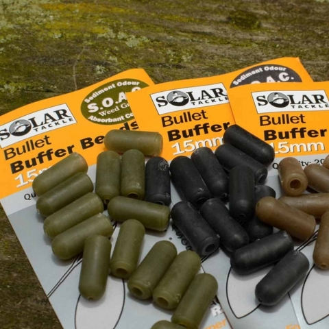 Solar Tackle - Bullet Buffer Beads - Brown