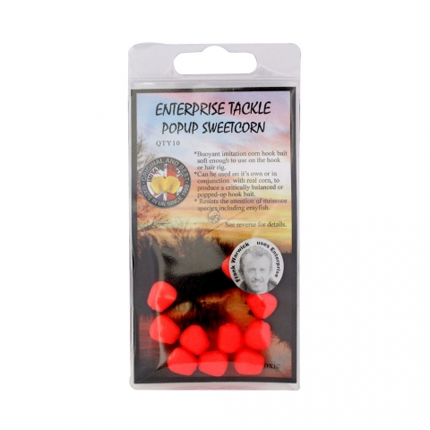 Enterprise Tackle - Pop Up Sweetcorn - Unflavoured - Fluoro Red