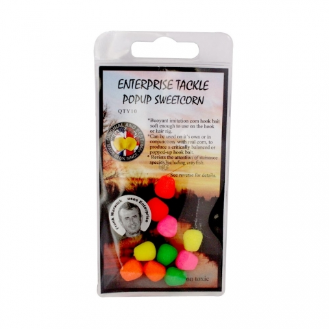 Enterprise Tackle - Pop Up Sweetcorn - Unflavoured - Mixed Fluoro