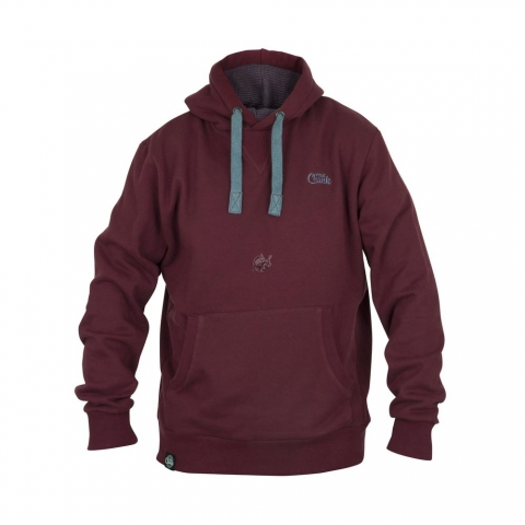Fox - Chunk Ribbed Hoody Burgundy # 3XL