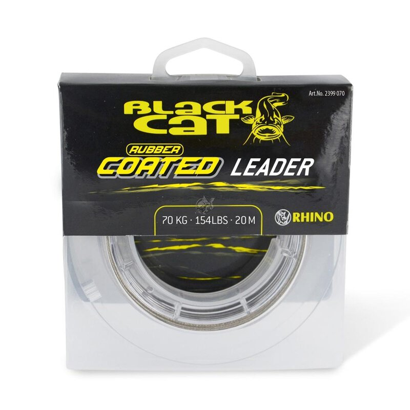 Black Cat - Rubber Coated Leader 20m grau