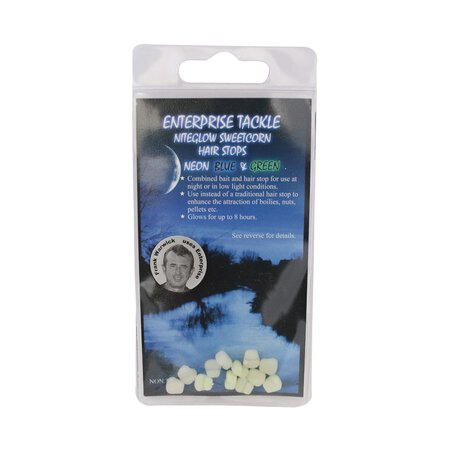 Enterprise Tackle - Niteglow Sweetcorn Hair Stop - Blue & Green