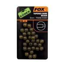 Fox - Edges Tapered Bore Beads - Trans Khaki