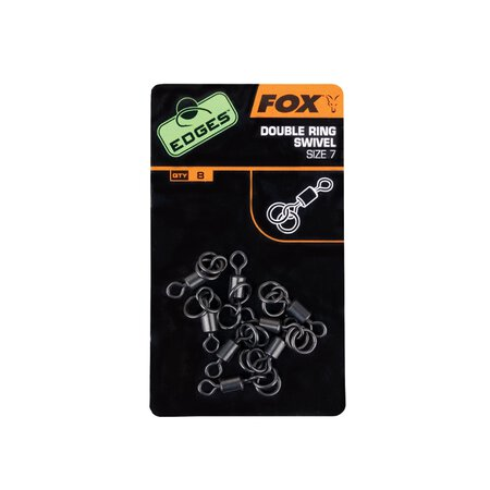Fox - Edges Double Ring Swivel - Size 7