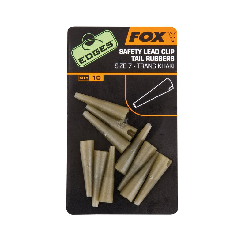 Fox - Edges Lead Clip Tail Rubber - Khaki - Size 7