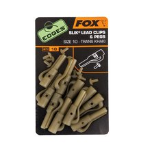 Fox - Edges Silk Lead Clip + Pegs - Khaki - Size 10
