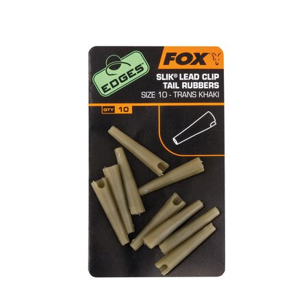 Fox - Edges Silk Lead Clip Tail Rubber - Khaki - Size 10