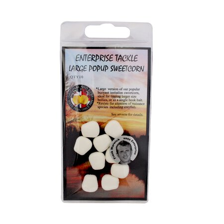 Enterprise Tackle - Large Pop Up Sweetcorn - Unflavoured - White