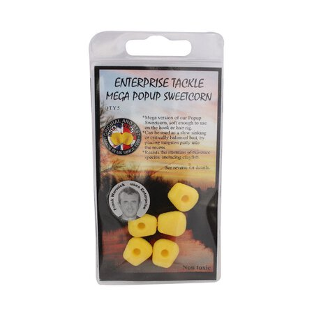 Enterprise Tackle - Mega Pop-Up Sweetcorn - Yellow Unflavoured