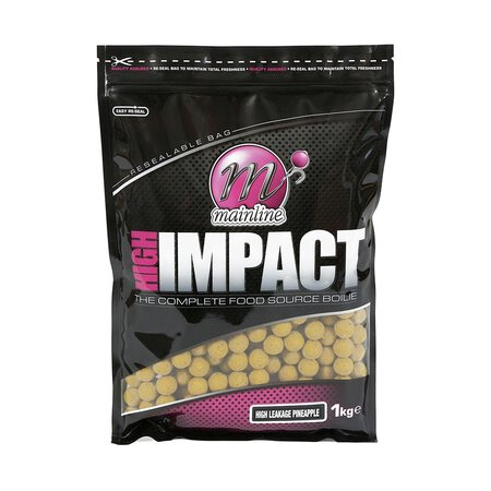 Mainline - High Impact Boilies High Leakage Pineapple 1kg 20mm