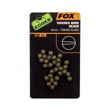 Fox - Edges 4mm Tapered Bore Beads - Trans Khaki