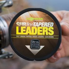 Korda - Subline Tapered Leader 12lb Brown