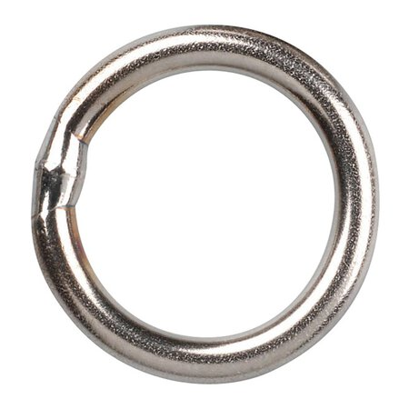 Gamakatsu - Hyper Solid Ring - Stainless Nickel - Size 4 - 100kg