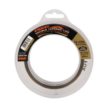 Fox - Exocet Trans Khaki Double Tapered Line 0.33mm - 0.50mm x 300m