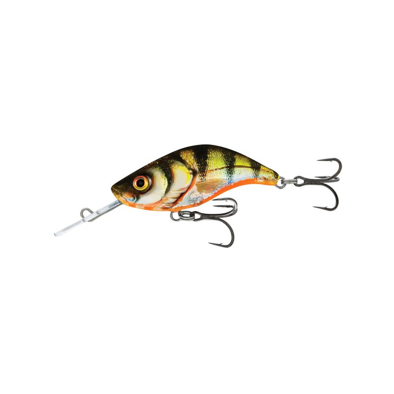 Salmo - Sparky Shad Sinking 4cm - Yellow Holographic Perch