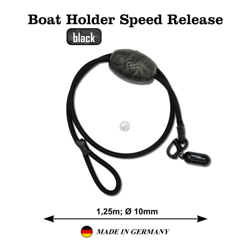 Poseidon - Boat Holder Speed Release - schwarz