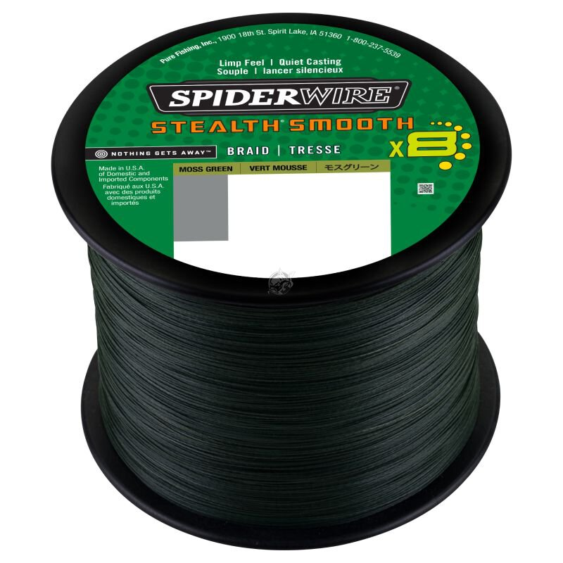 Spiderwire - Stealth Smooth 8 (2000m) - Moss Green -...